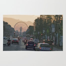 Ferris Wheel at Place de la Concorde, Paris Rug