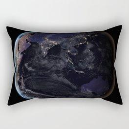 The Earth at Night 2 Rectangular Pillow