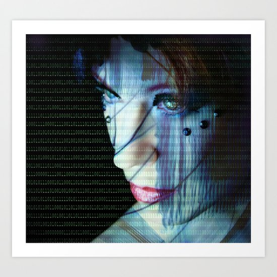 Binary Encoding I Art Print