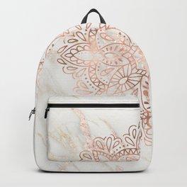 Rose Gold Mandala Marble Backpack