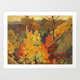 Canadian Landscape Oil Painting Franklin Carmichael Art Nouveau Post-Impressionism Autumn Art Print