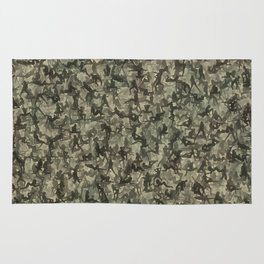 Sexy girls camouflage Rug