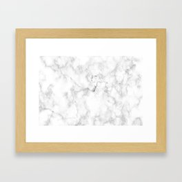 Marble pattern on white background Framed Art Print