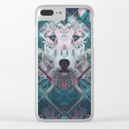 Moon Watcher Clear iPhone Case