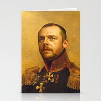 replaceface Stationery Cards featuring Simon Pegg - replaceface by replaceface