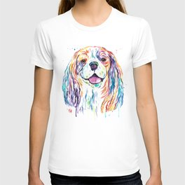 Cavalier King Charles Spaniel - Colorful Watercolor Painting T-shirt