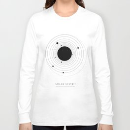The Solar System (with Pluto) Long Sleeve T-shirt
