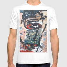 Deer Abductor  White MEDIUM Mens Fitted Tee