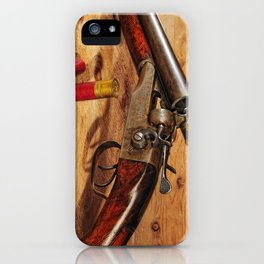 Old Double Barrel Stevens iPhone Case