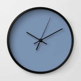 Vintage New England Shaker Village Soldier Blue Milk Paint Wall Clock