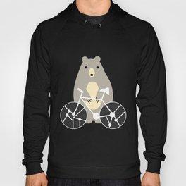 Bear with bike Hoody