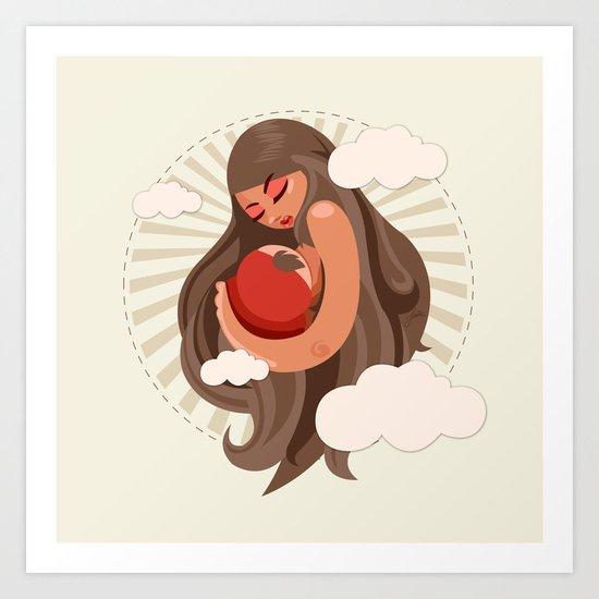 Motherly Love Art Print