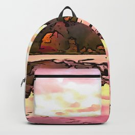 The Salmon Lake. (Painting) Backpack