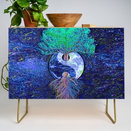 Tree of Life Yin Yang Earth Space Credenza