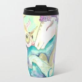 Kelpie unicorn and goldfish Travel Mug