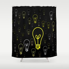Numerous drawings of incandescent lamps type cartoons Shower Curtain