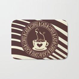 Coffee & Cats & Coffee Bath Mat