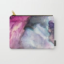 Purple Fusion - Mixed Media Painting Carry-All Pouch