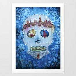 SugarSkull - watercolor Art Print