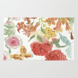 Dahlias and Floral Snippets Rug
