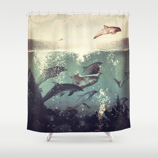 My favourite morning race Shower Curtain