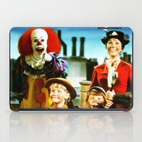 mary poppins iPad Cases featuring PENNYWISE IN MARY POPPINS by Luigi Tarini