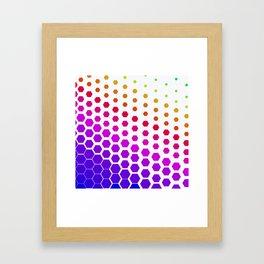 Fade into white Framed Art Print