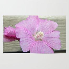 Pink Musk Mallow Pollen Overflow Rug