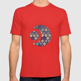 Moroccan Tile Design In Retro Colors T-shirt