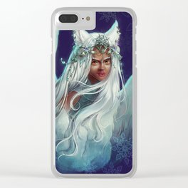 Snow Goddess Clear iPhone Case
