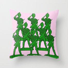 Barbie Army! Funny Barbie Pop Art! Throw Pillow