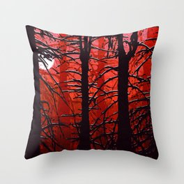 September in the boreal forest Throw Pillow