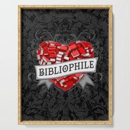 Bibliophile Heart Serving Tray