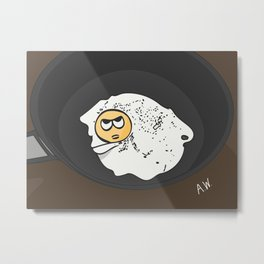 The Angry Egg in the Skillet Metal Print