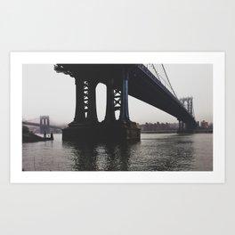 NY Bridges Series No.1 Art Print