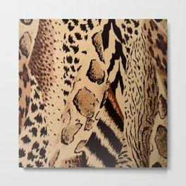 Multi Animal Print in Brown, Tan and Black Metal Print