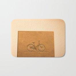 i like to ride my bicycle  Bath Mat