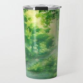 Warming Green Forest Travel Mug