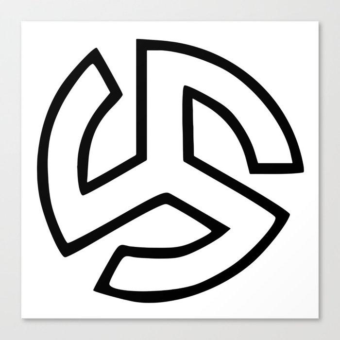 Triskelion Martial Heathen symbols Canvas Print