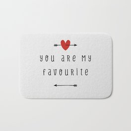 You Are My Favourite Bath Mat