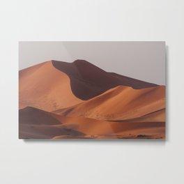 Sand dunes in the Namib desert near Sossusvlei Art Print || Namibia  Metal Print