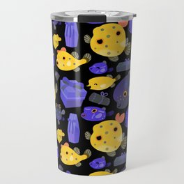 Boxfish - black Travel Mug