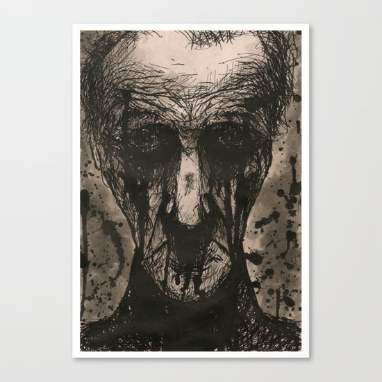 Ink Face Canvas Print