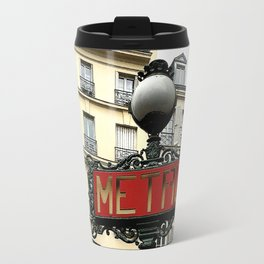 Metro sign of Paris Travel Mug