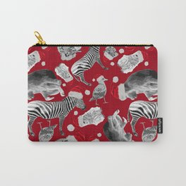 Animal Santas in Red Carry-All Pouch