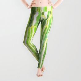 Cactus summer watercolor Leggings