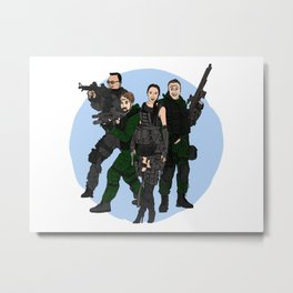 Super Squad Metal Print