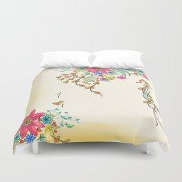 Vibrant Floral to Floral Duvet Cover
