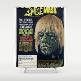 Zombie Mask Shower Curtain