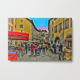 Tuesday is market day Metal Print